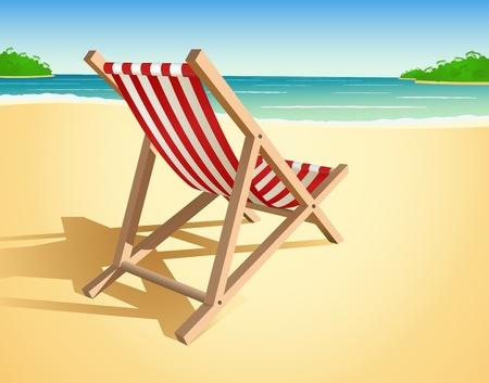 transat: Vecteur de chaise de plage Illustration