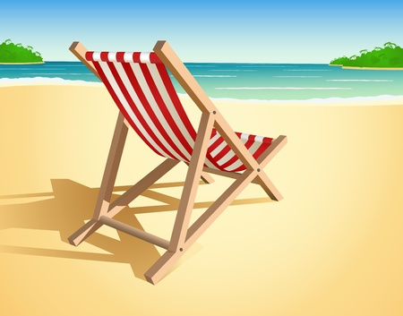 wood chair: Vector de silla de playa Vectores
