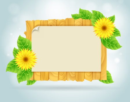 Spring frame vector illustration Vector
