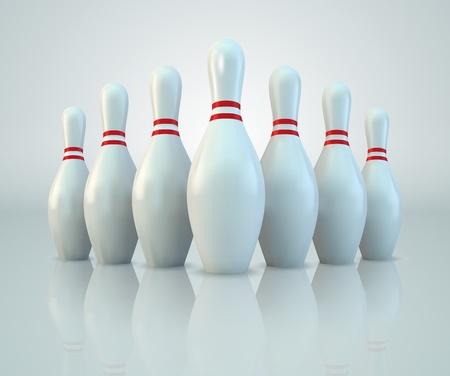 Vector Bowling Pins