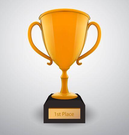 reconocimiento: Copa de oro de vectores Vectores