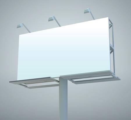 billboard blank: Outdoor blank billboard