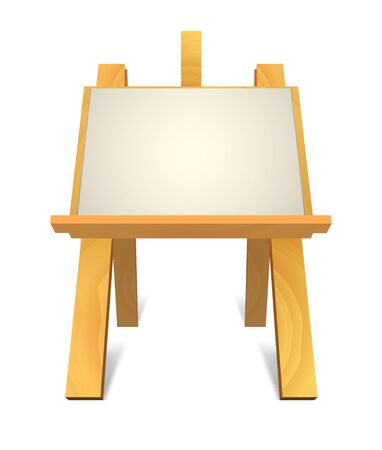 blank canvas: wooden easel with blank canvas