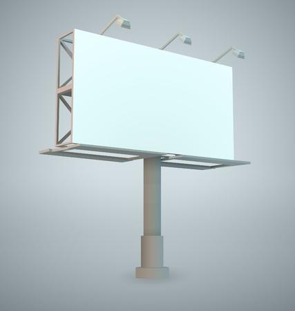 outdoor blank billboard: Outdoor blank billboard
