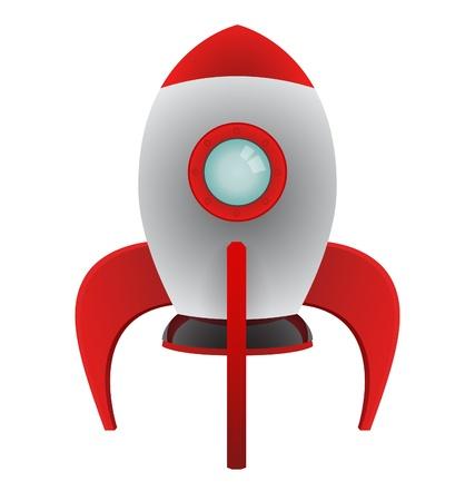 Vector Cartoon Rocket Illustration