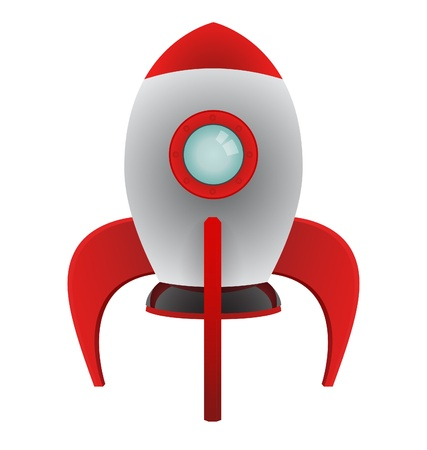 Vector Cartoon Rocket Illustration