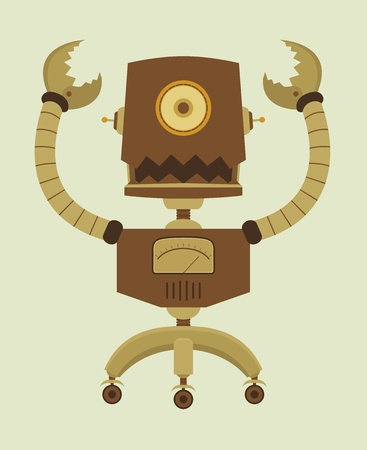 fouten: Retro Robot karakter
