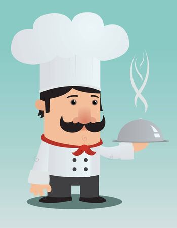 Cartoon Chef Character Vector
