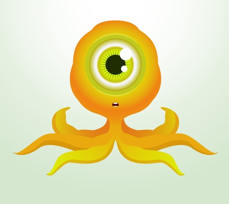 Cute Octopus Monster Vector