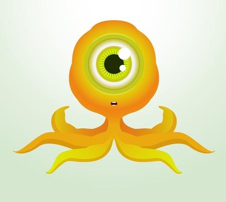 Cute Octopus Monster Vector