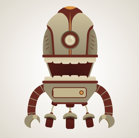 science fiction: Cute Retro Robot Character