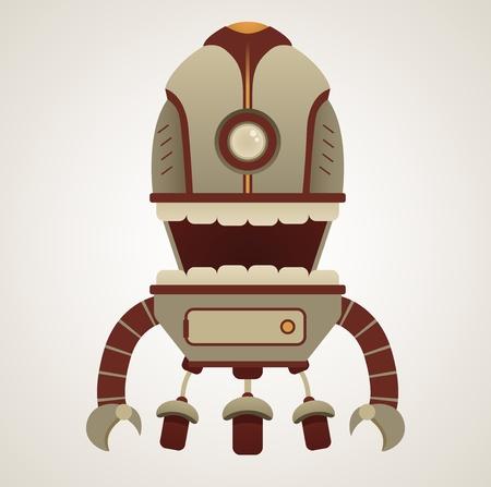 Cute Retro Robot Character