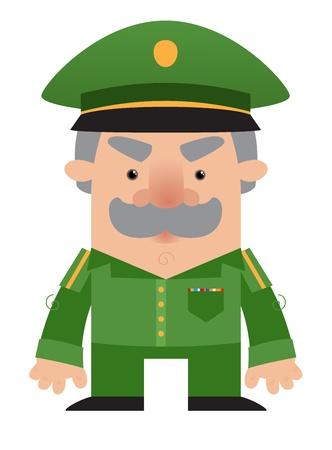 Cartoon soldier Officer Stock Vector - 9930116