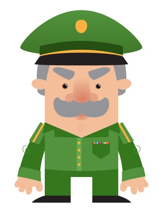 work force: Cartoon soldier Officer