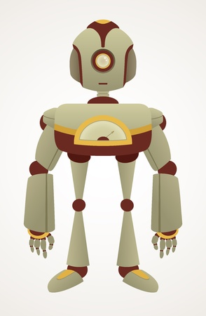 Cute Retro Robot Character