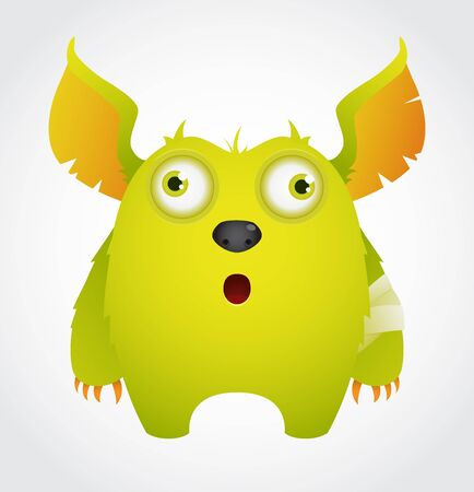 Cute Cartoon Monster Stock Vector - 9930119