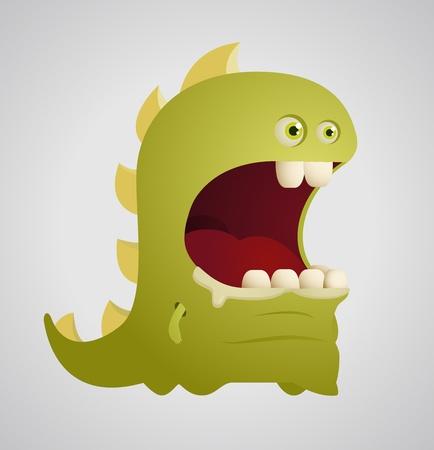 cute dinosaur: Dinosaurio lindo Vectores