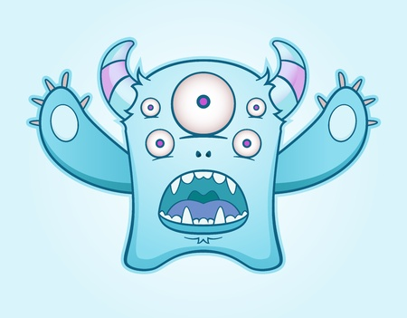 Surprised Blue Monster Stock Vector - 10498767