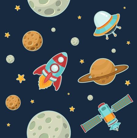 luna caricatura: Espacio Modelo inconsútil