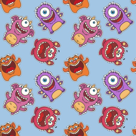 Monsters  Seamless Pattern Stock Vector - 12227453