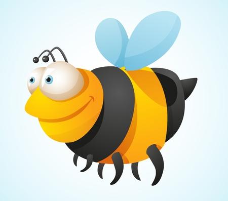 comic wasp: Cartoon Bee