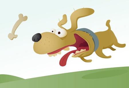 hueso de perro: Pez que se muerde el hueso