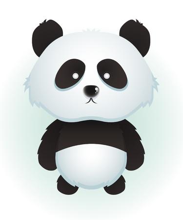 Cute Baby Panda Vector
