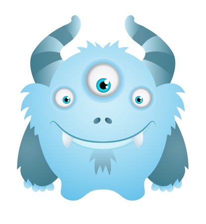 Cute Blue Monster Stock Vector - 12227614