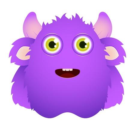 부드러운 털의: 귀여운 털복숭이 괴물 일러스트