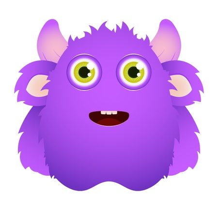 Cute furry monster Stock Vector - 12227398