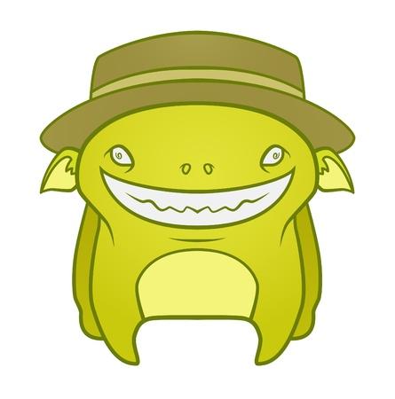 Cute Cartoon Monster Stock Vector - 12227401