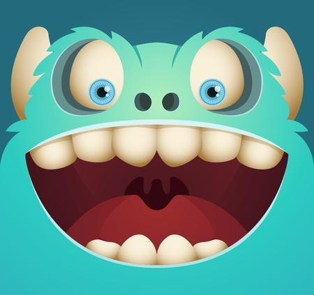 Cute Cartoon Monster Stock Vector - 12227454