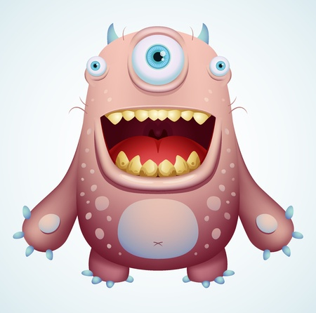 Happy Monster Vector