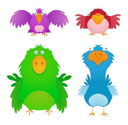 mosca caricatura: Las aves de dibujos animados Vectores