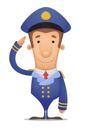 Captain Saluting