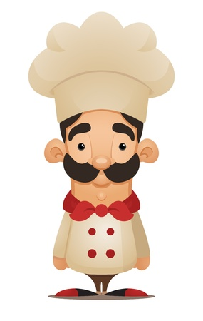 Chef. Cute Cartoon Character Vector