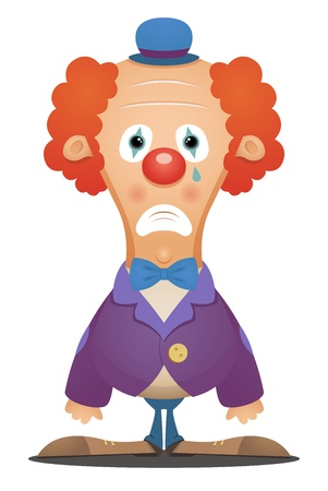 clown face: Sad Clown