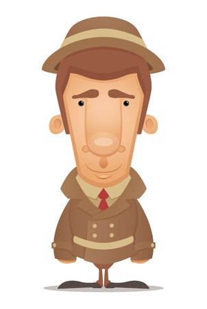 sneak: Detective Illustration