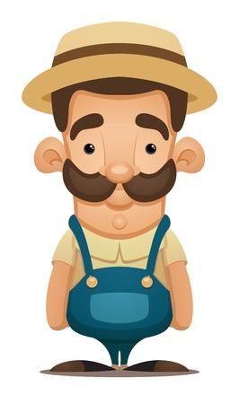 hillbilly: Farmer Illustration