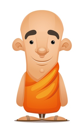 Buddhist Monk Illustration