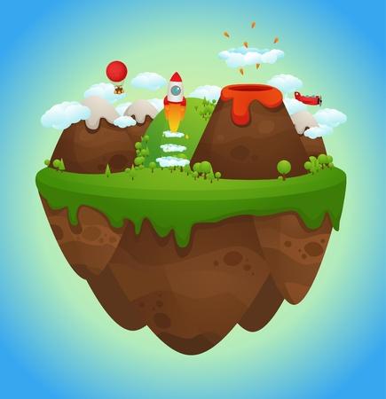 grass land: Isla flotante