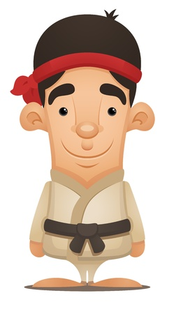 Karate Boy Vector