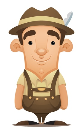 Lederhosen Man Stock Vector - 12227397