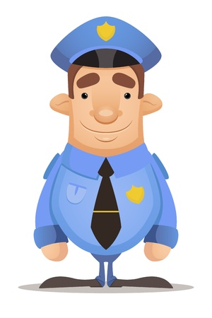 gorra policía: Oficial de Policía Vectores