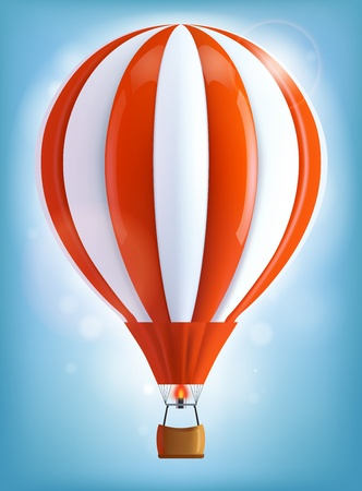 Hot air balloon Ilustracja