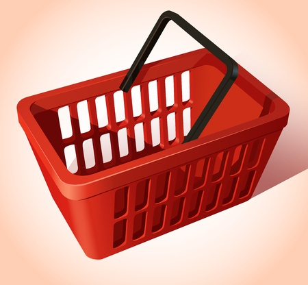 empty basket: Shopping Basket Illustration