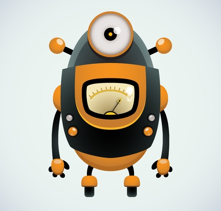 android robot: Cartoon Robot
