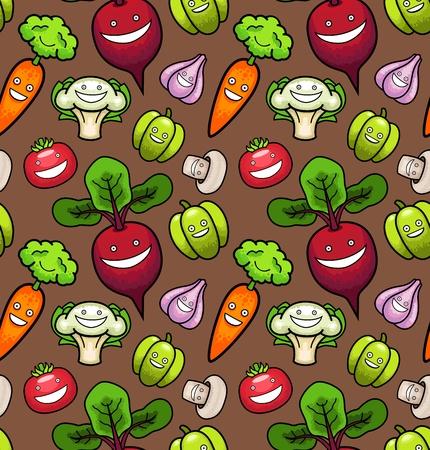 콜리 플라워: 야채. 원활한 패턴 일러스트