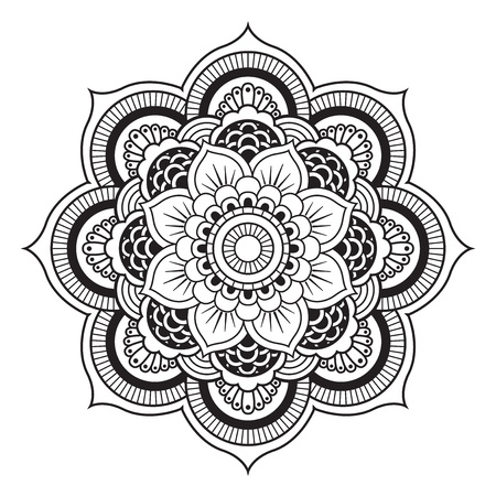 曼陀羅: マンダラです。丸い飾りパターン