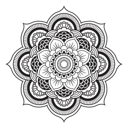 Mandala. Round Ornament Pattern Illustration